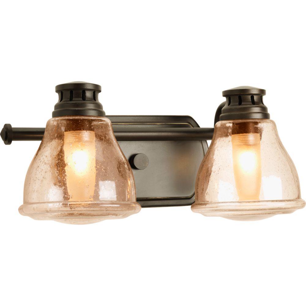 Progress Lighting Academy Collection 2-light Antique Bronze Bath Light