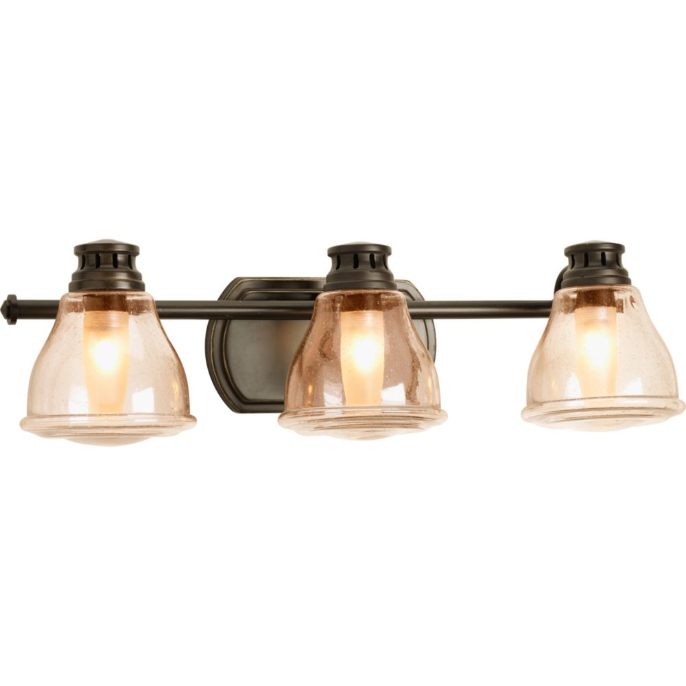 Academy Collection 3-light Antique Bronze Bath Light