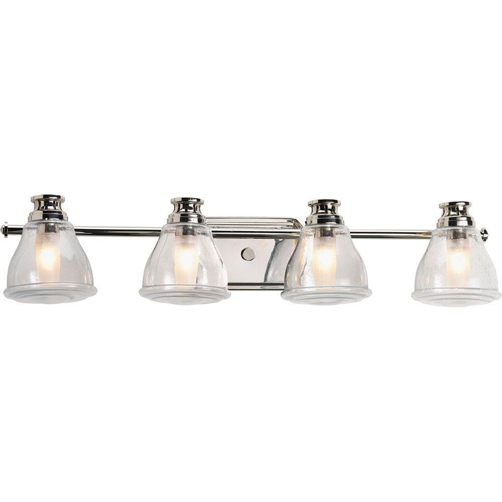 Progress Lighting Academy Collection 4-light Polished Chrome Bath Light