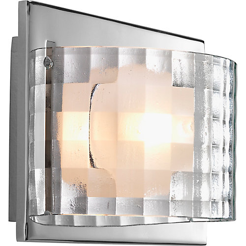 Cliche Collection 1-light Polished Chrome Bath Light