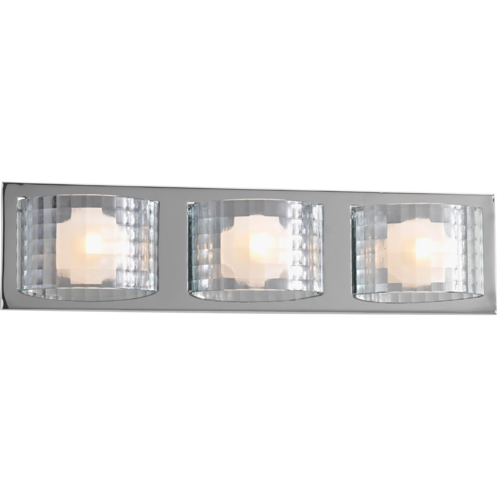 Cliche Collection 3-light Polished Chrome Bath Light