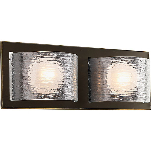 Reign Collection 2-light Antique Bronze Bath Light