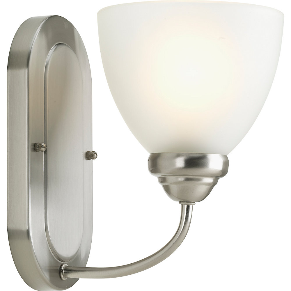 Heart Collection 1-light Brushed Nickel Bath Light