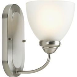 Progress Lighting Heart Collection 1-light Brushed Nickel Bath Light