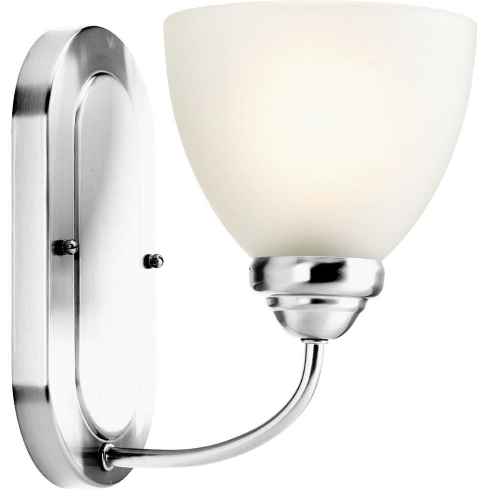 Heart Collection 1-light Polished Chrome Bath Light