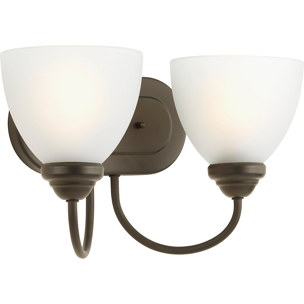 Heart Collection 2-light Antique Bronze Bath Light