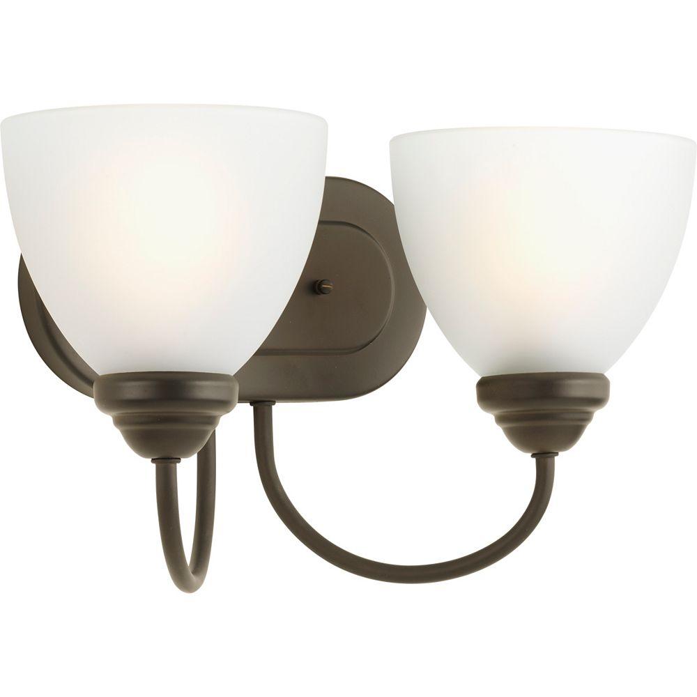 Progress Lighting Heart Collection 2-light Antique Bronze Bath Light