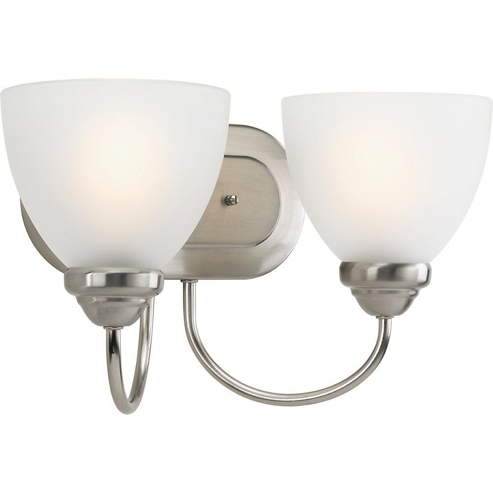 Heart Collection 2-light Brushed Nickel Bath Light