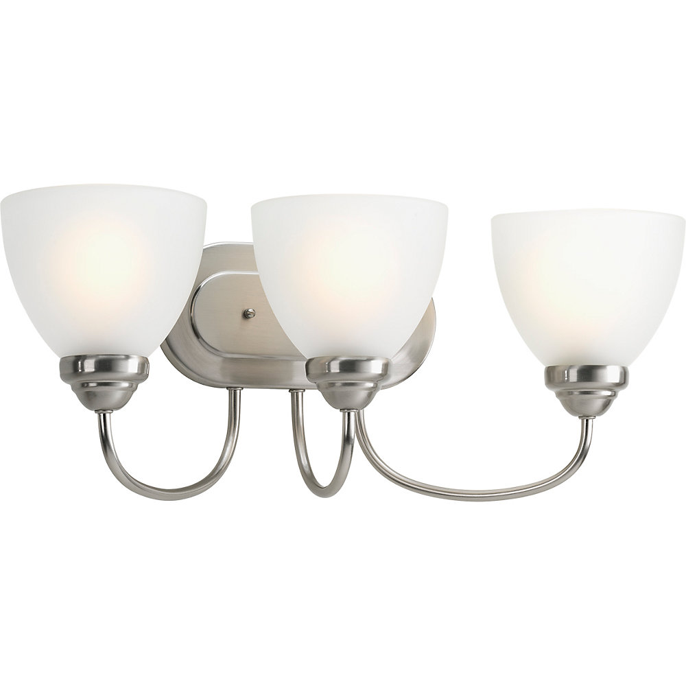 Heart Collection 3-light Brushed Nickel Bath Light