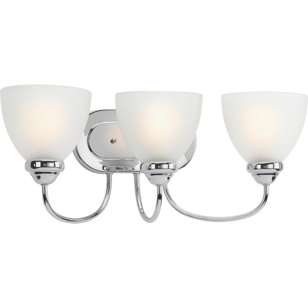 Progress Lighting Heart Collection 3-light Polished Chrome Bath Light