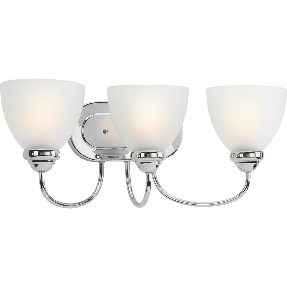 Progress Lighting Heart Collection 3-light Polished Chrome Bath Light