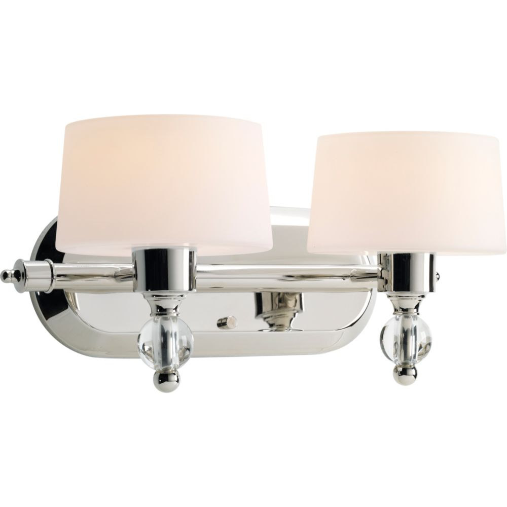 Fortune Collection 2-light Polished Nickel Bath Light