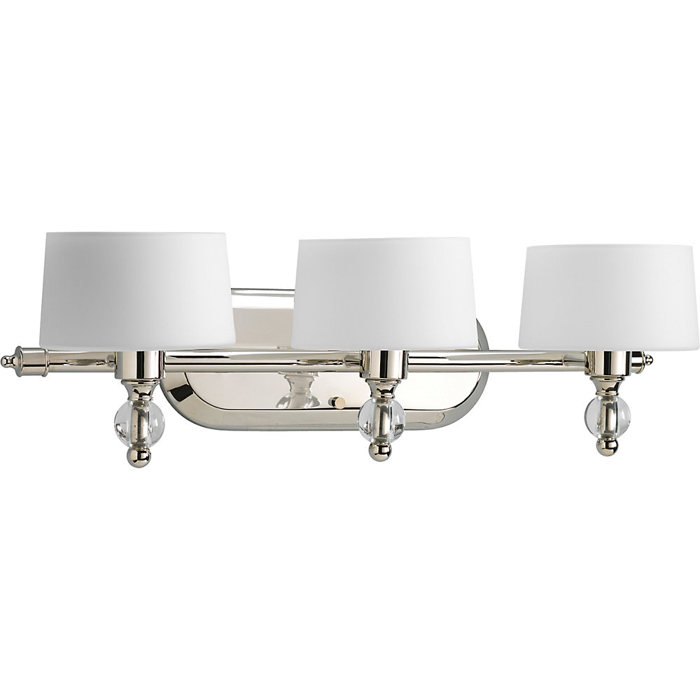 Fortune Collection Polished Nickel 3-light Bath Light