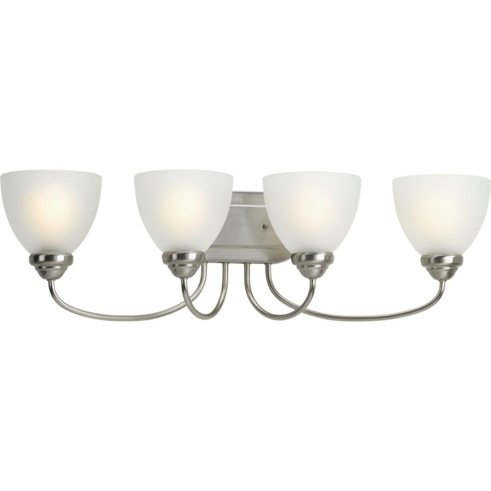 Heart Collection 4-light Brushed Nickel Bath Light