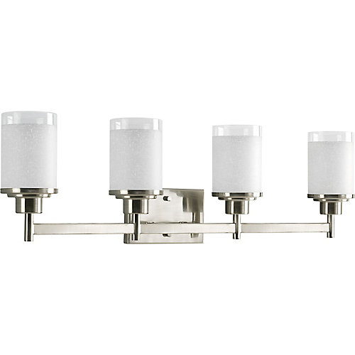 Alexa Collection Brushed Nickel 4-light Bath Light