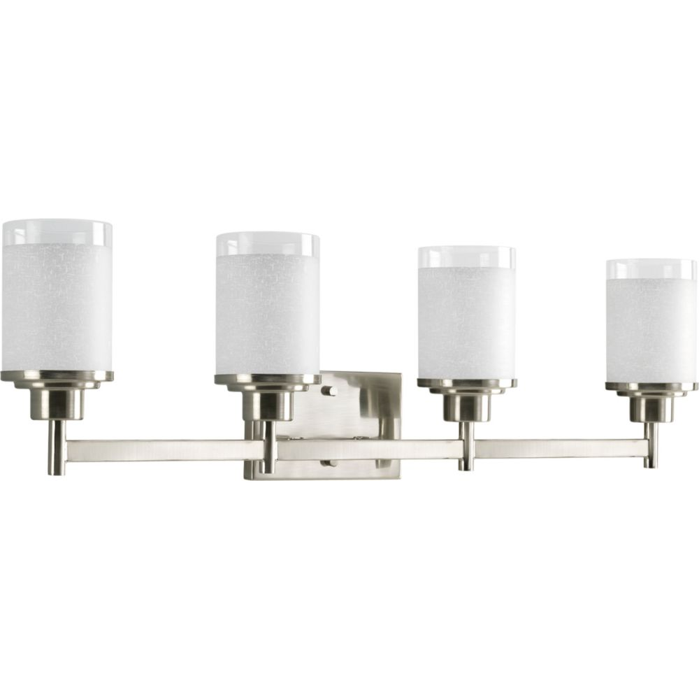 Progress Lighting Alexa Collection Brushed Nickel 4-light Bath Light