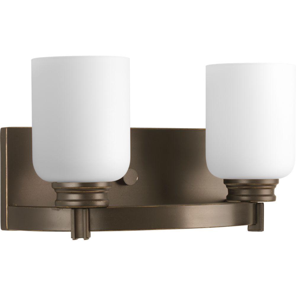 Orbit Collection Antique Bronze 2-light Bath Light