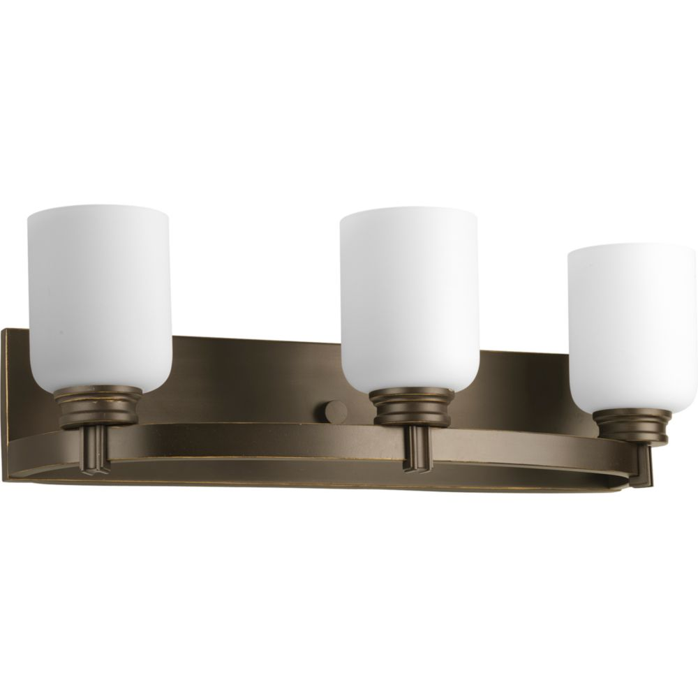 Progress Lighting Orbit Collection Antique Bronze 3 Light Bath Light The Home Depot Canada