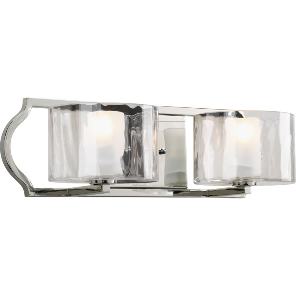 Caress Collection 2-light Polished Nickel Bath Light