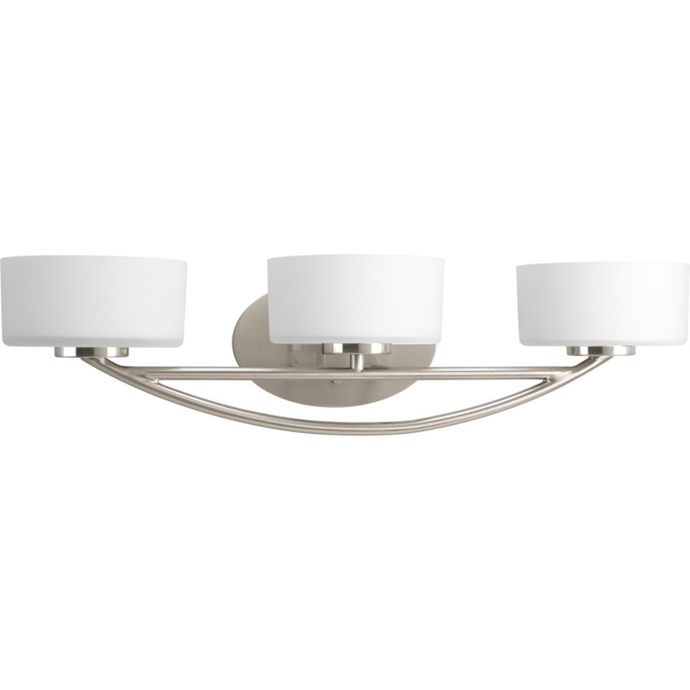 Calven Collection Brushed Nickel 3-light Bath Light