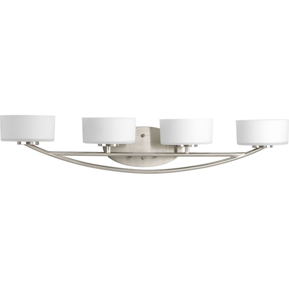 collection brushed nickel 4 light bath light the home depot canada. Black Bedroom Furniture Sets. Home Design Ideas