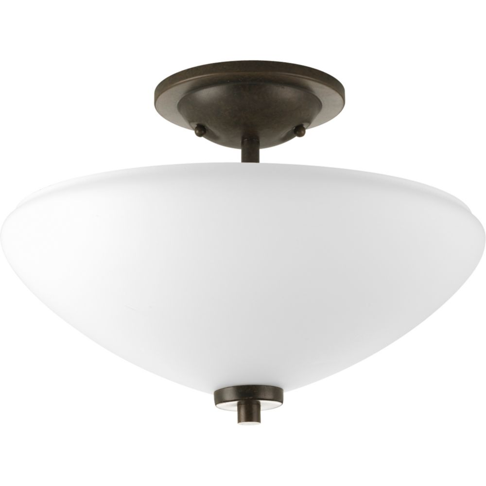 Rave Collection Forged Bronze 2-light Semi-flushmount