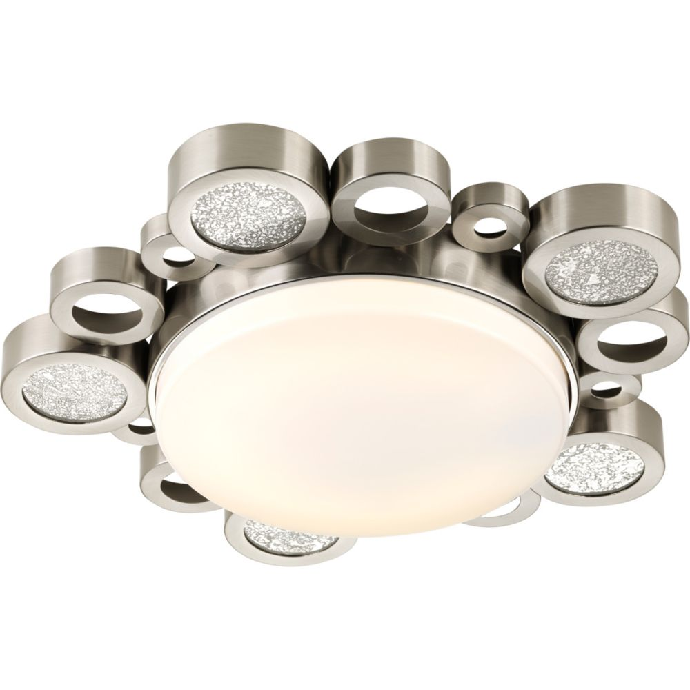 Bingo Collection 1-light Brushed Nickel Flushmount