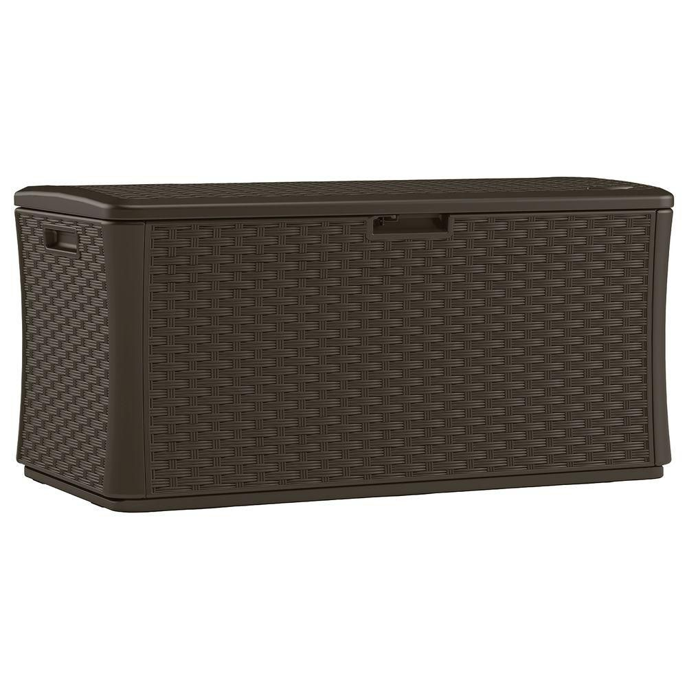 Blow-Molded Resin Wicker Deck Box(17.91 Cu.Ft)
