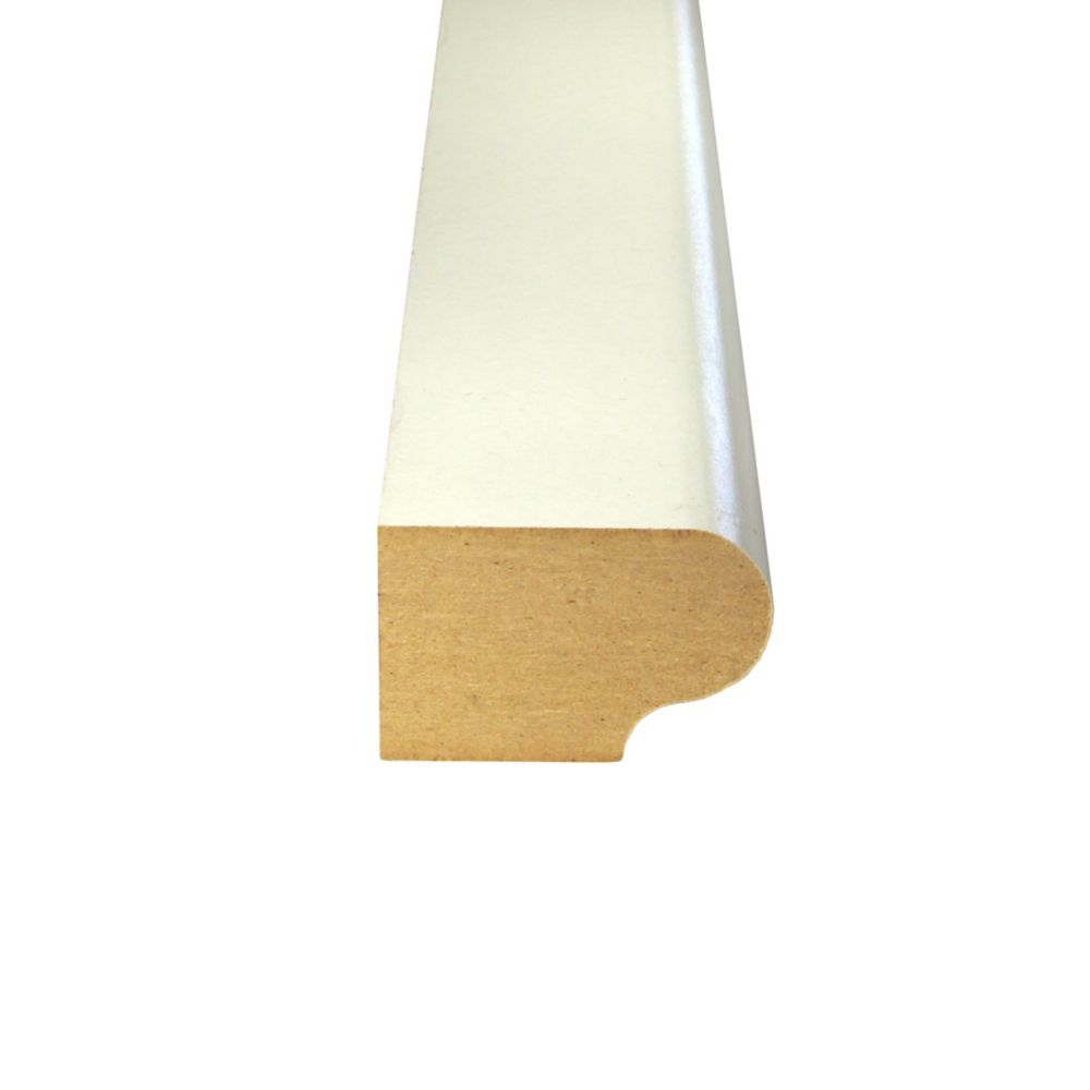 Alexandria Moulding Primed Fibreboard Stool 1-1/8 Inches x 1-11/16 Inches