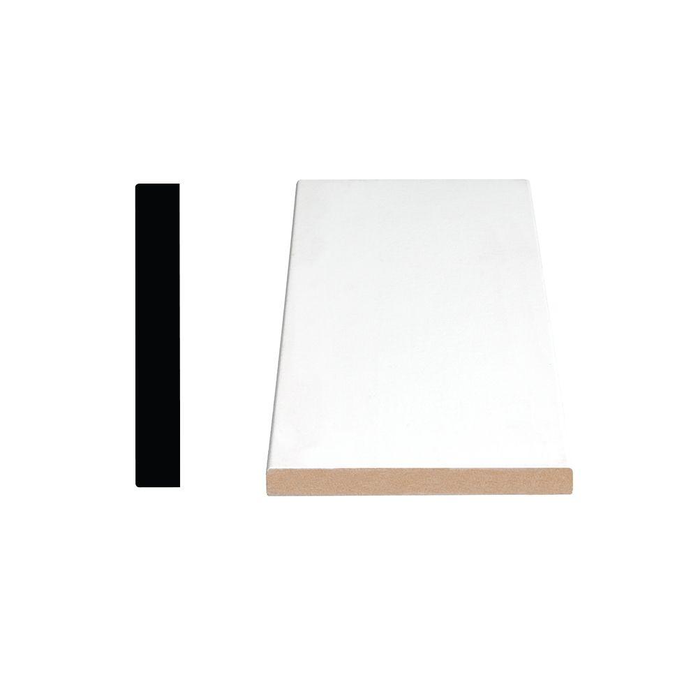 Primed Fiberboard Board S4S E2E 1 x 5 x 16 Feet