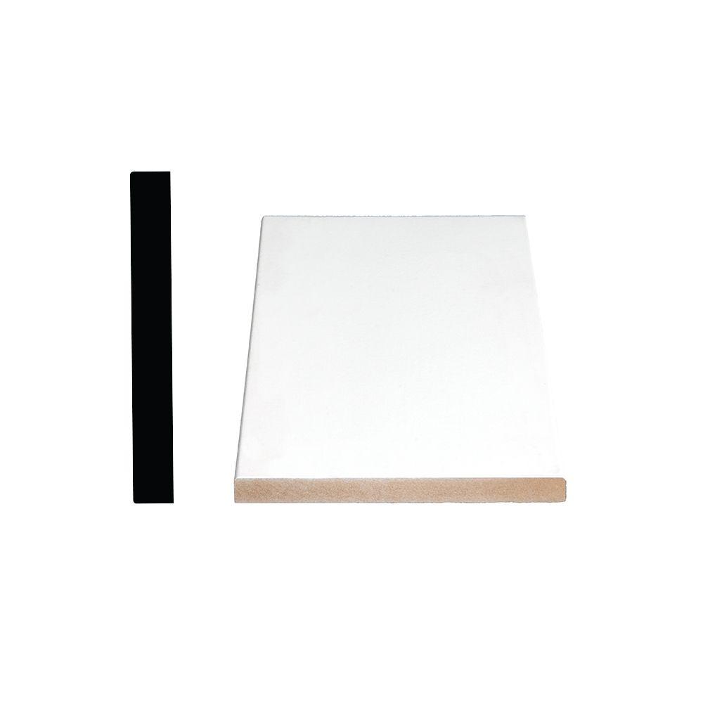 Primed Fiberboard Board S4S E2E 1 x 6 x 8 Feet