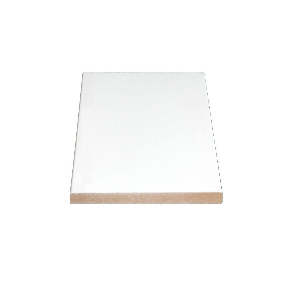 Primed Fiberboard Board S4S E2E 1 x 6 x 16 Feet