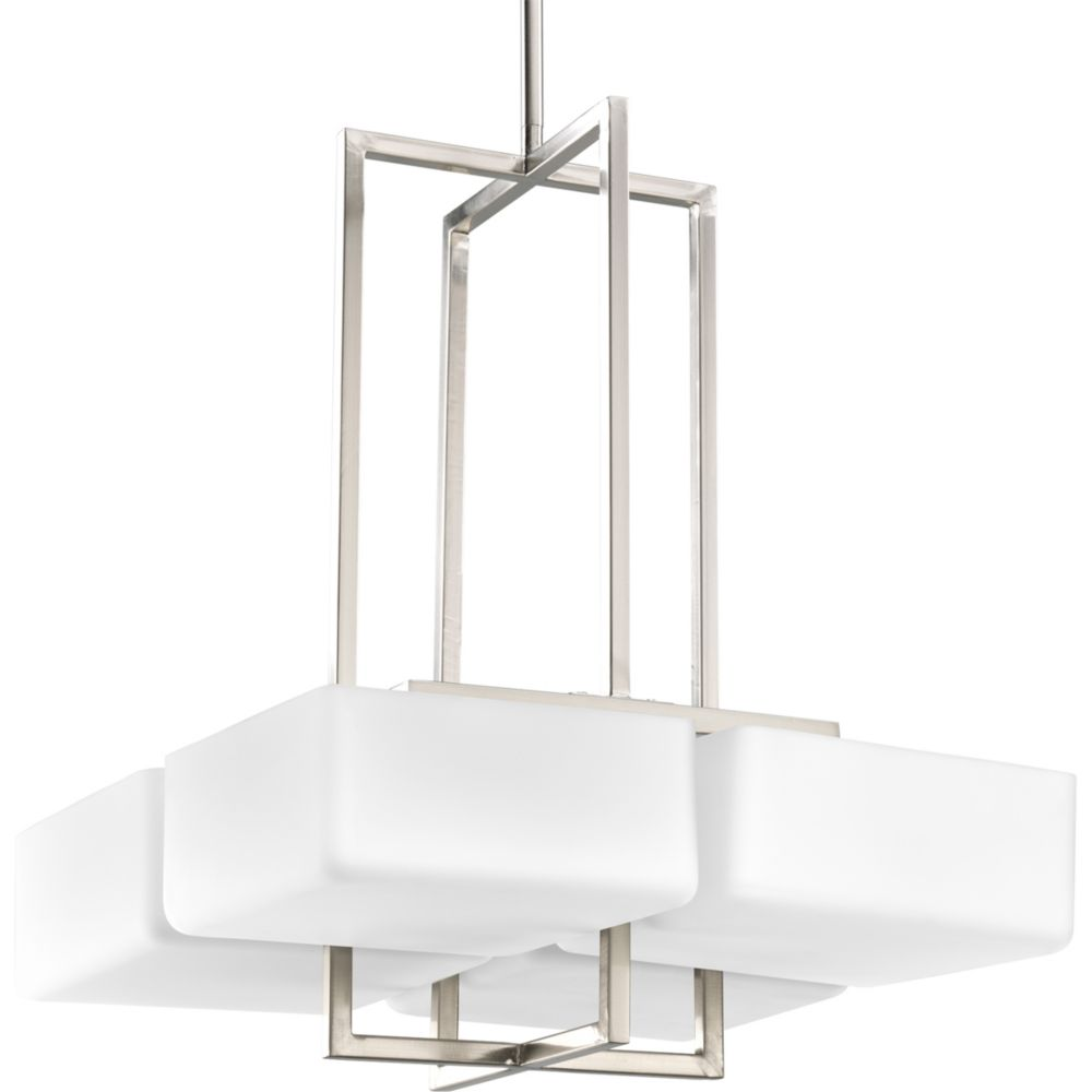 Dibs Collection Brushed Nickel 4-light Foyer Pendant