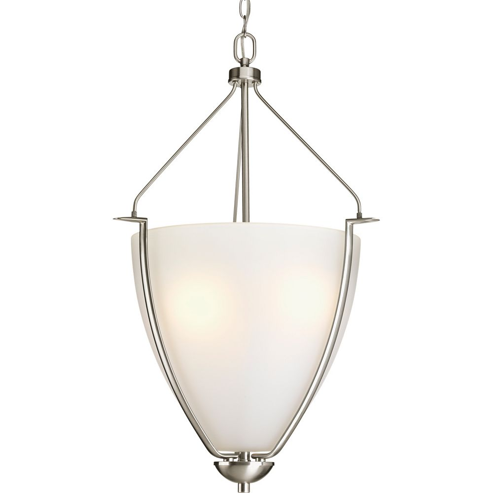 Progress Lighting Bravo Collection 3-light Brushed Nickel Foyer Pendant