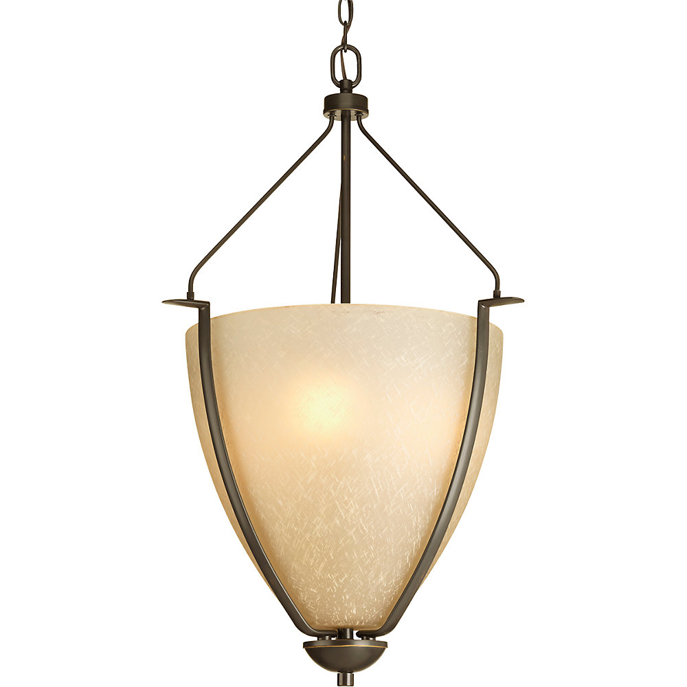 Bravo Collection 3-light Antique Bronze Foyer Pendant
