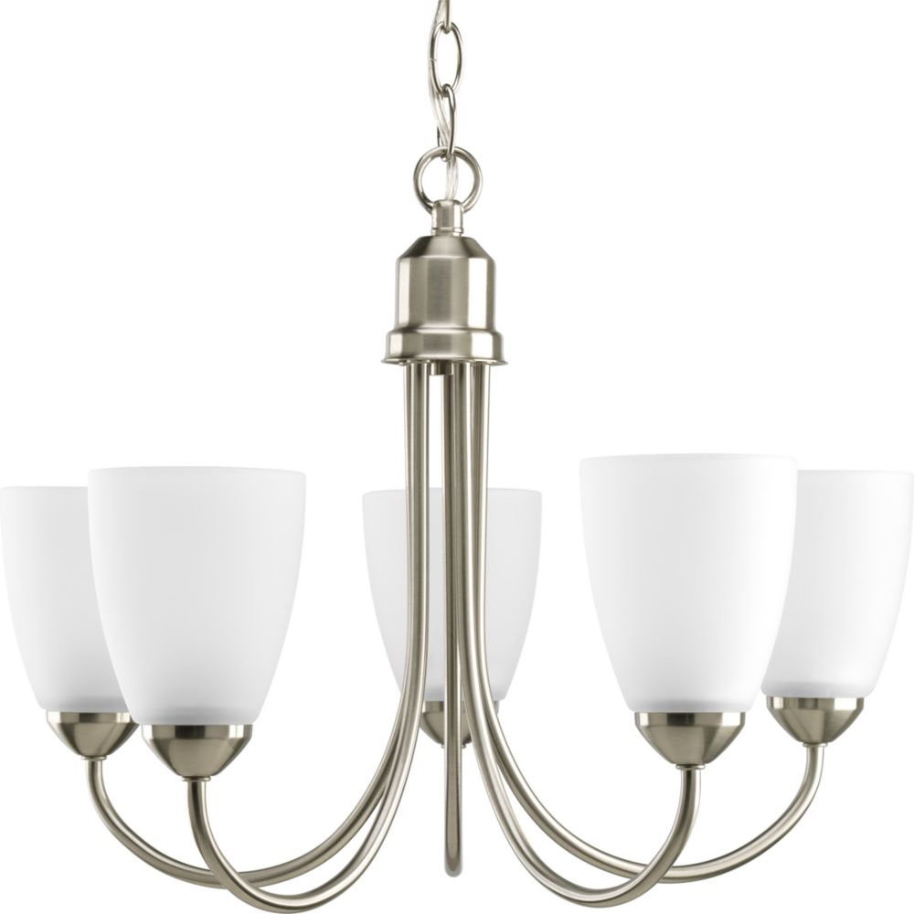 Gather Collection Brushed Nickel 5-light Chandelier