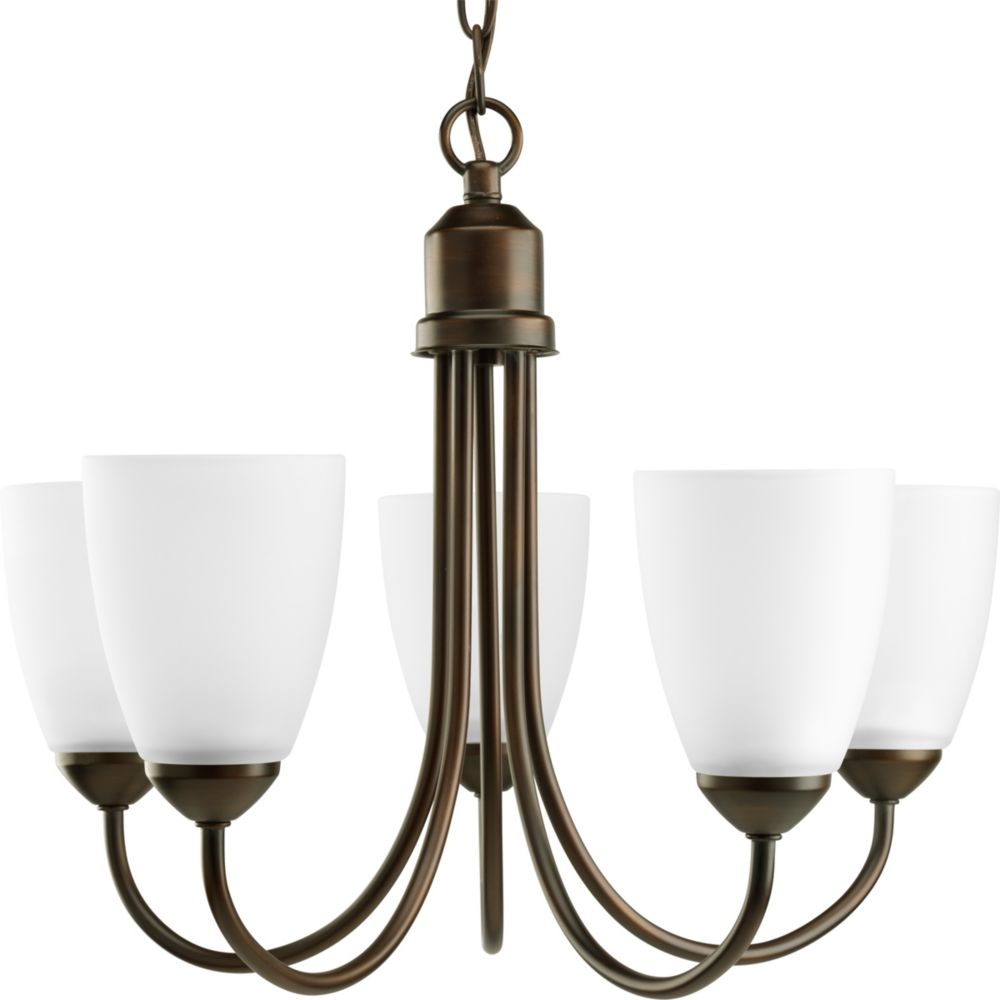 Gather Collection Antique Bronze 5-light Chandelier