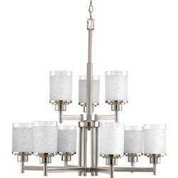 Progress Lighting Alexa Collection Brushed Nickel 9-light Chandelier