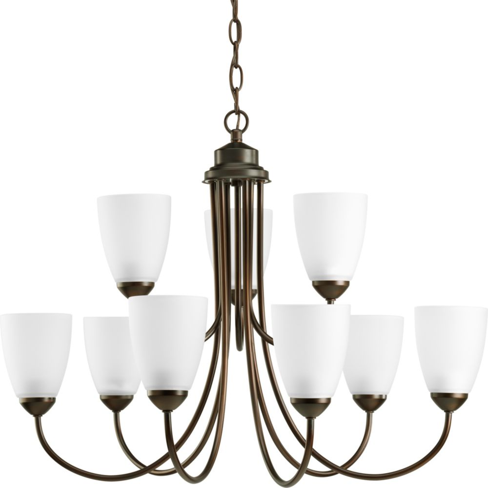 Gather Collection Antique Bronze 9-light Chandelier