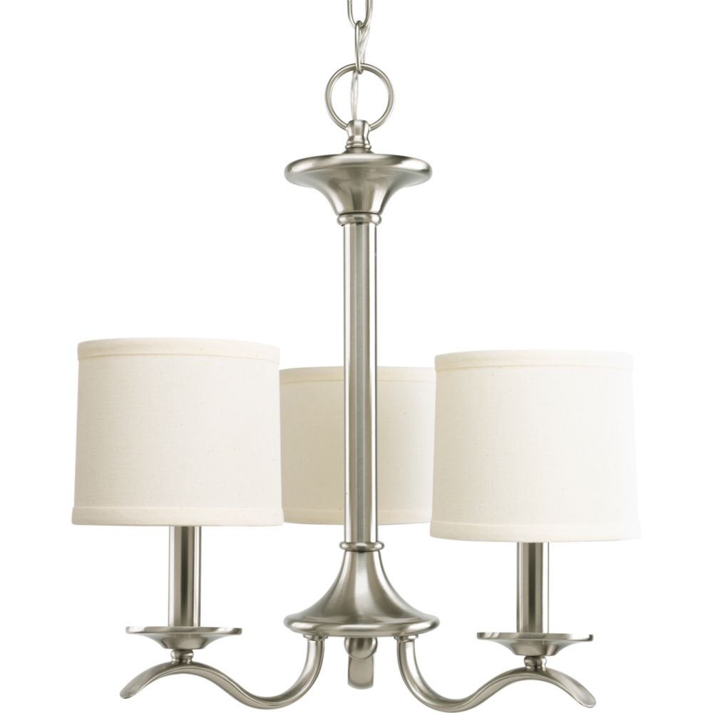 Inspire Collection Brushed Nickel 3-light Chandelier