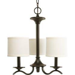 Progress Lighting Inspire Collection Antique Bronze 3-light Chandelier