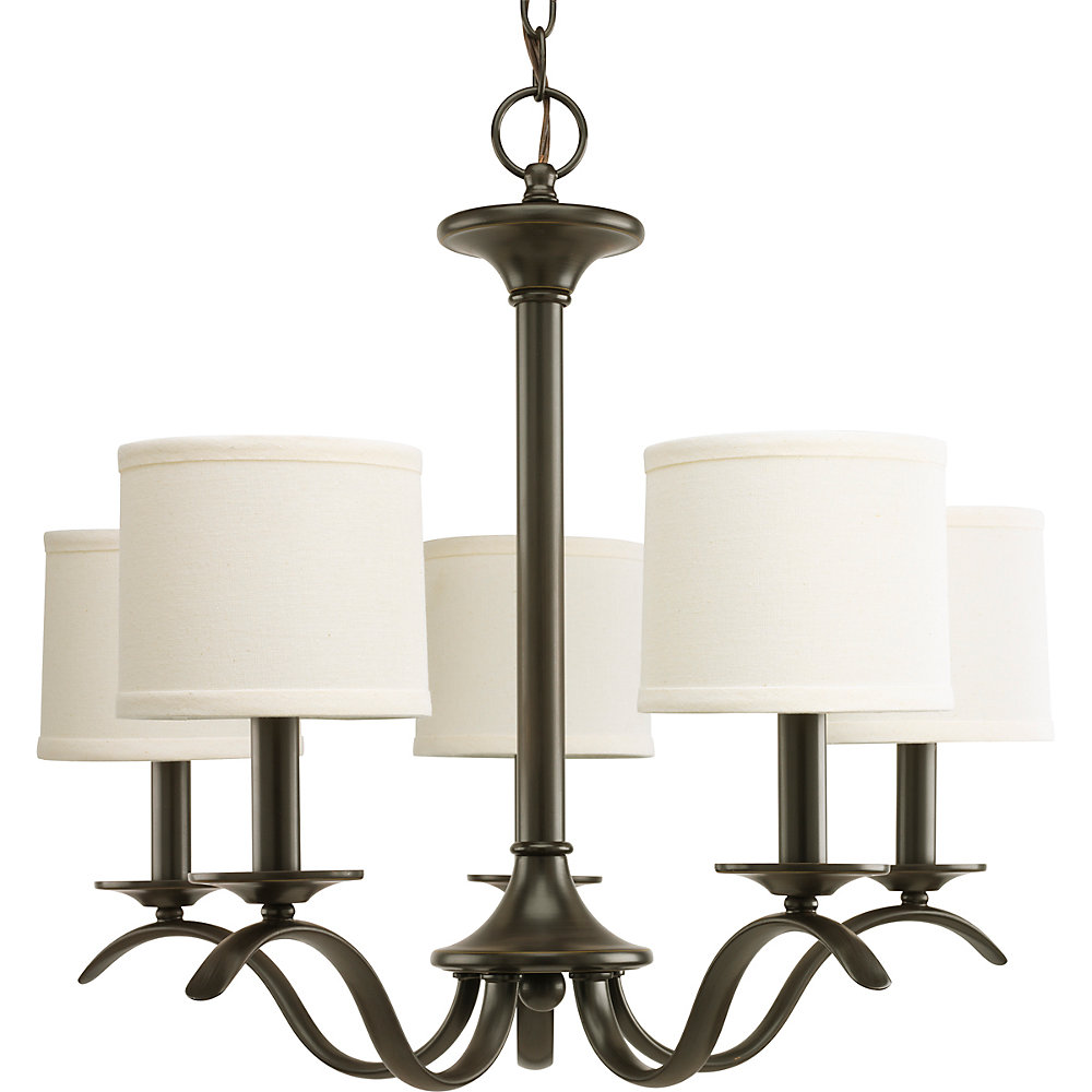 Inspire Collection Antique Bronze 5-light Chandelier