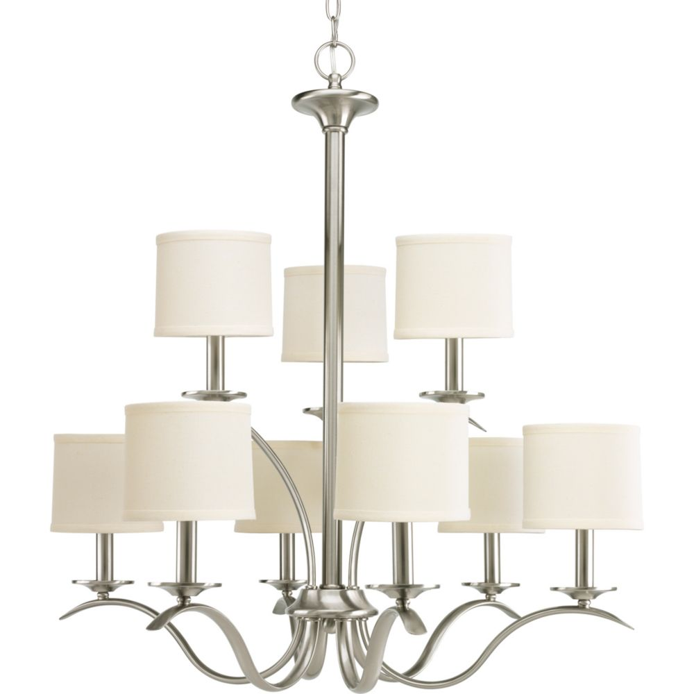 Inspire Collection Brushed Nickel 9-light Chandelier
