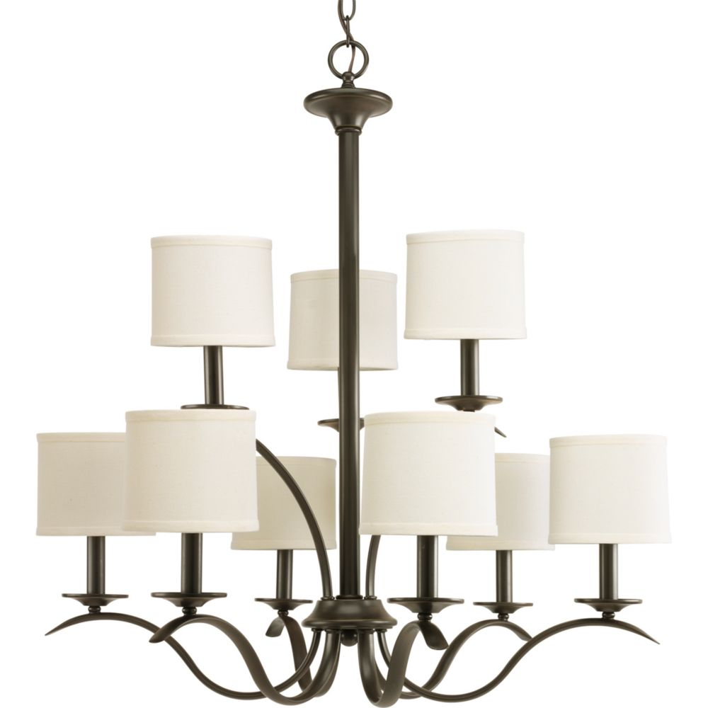 Inspire Collection Antique Bronze 9-light Chandelier