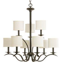 Progress Lighting Inspire Collection Antique Bronze 9-light Chandelier