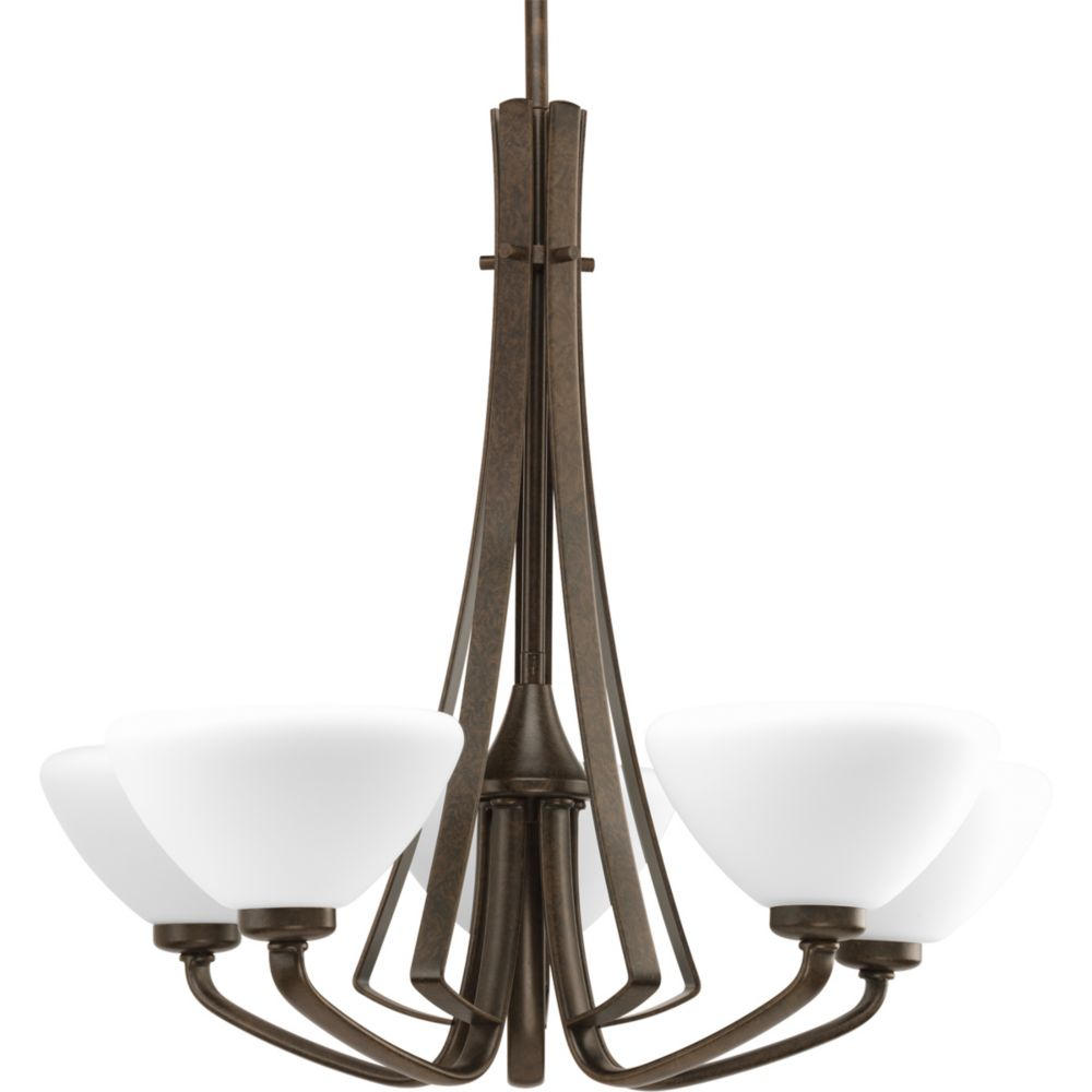 Rave Collection Forged Bronze 5-light Chandelier