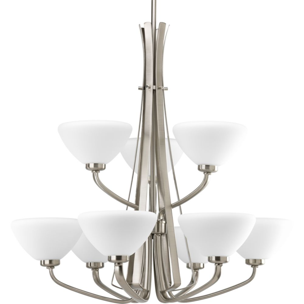 Rave Collection Brushed Nickel 9-light Chandelier