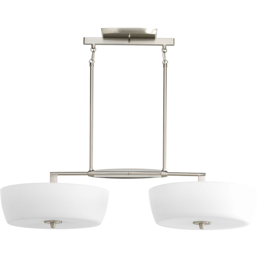 Divot Collection Brushed Nickel 4-light Chandelier