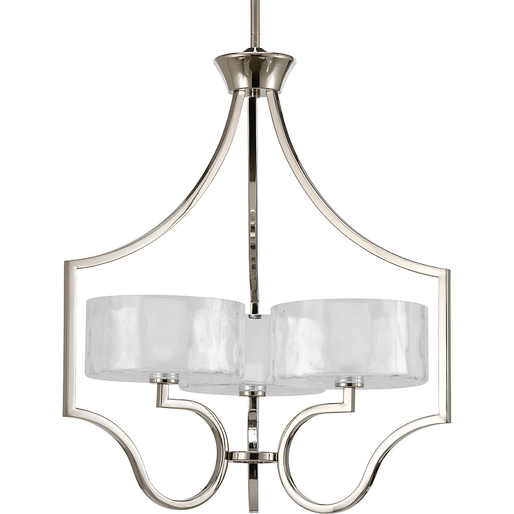 Caress Collection Polished Nickel 3-light Chandelier