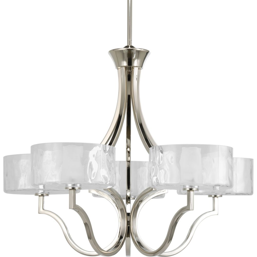 Caress Collection Polished Nickel 5-light Chandelier